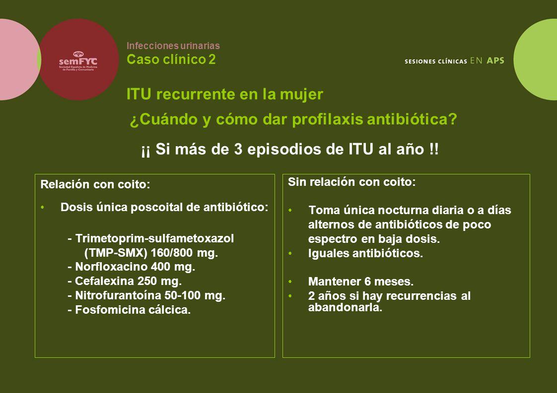 Infecciones urinarias Caso clínico 2 ITU recurrente en la mujer