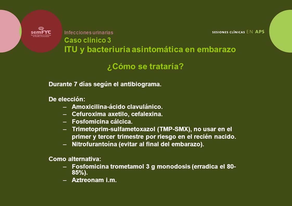 ¿Cómo se trataría Durante 7 días según el antibiograma. De elección: