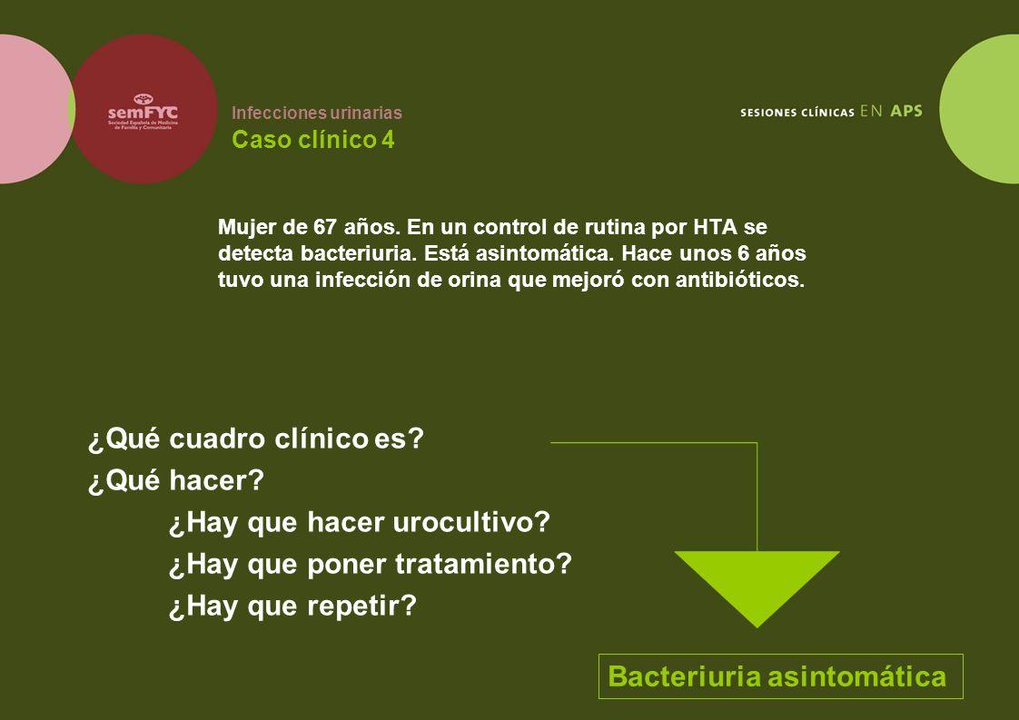 Infecciones urinarias Caso clínico 4