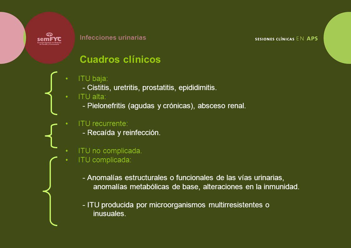 Infecciones urinarias Cuadros clínicos