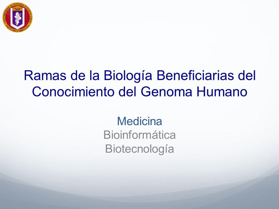 Ramas de la Biología Beneficiarias del Conocimiento del Genoma Humano