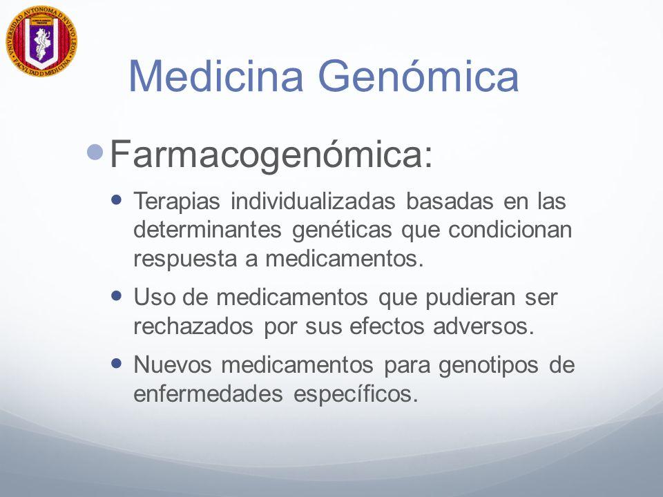 Medicina Genómica Farmacogenómica: