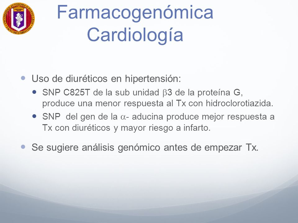 Farmacogenómica Cardiología