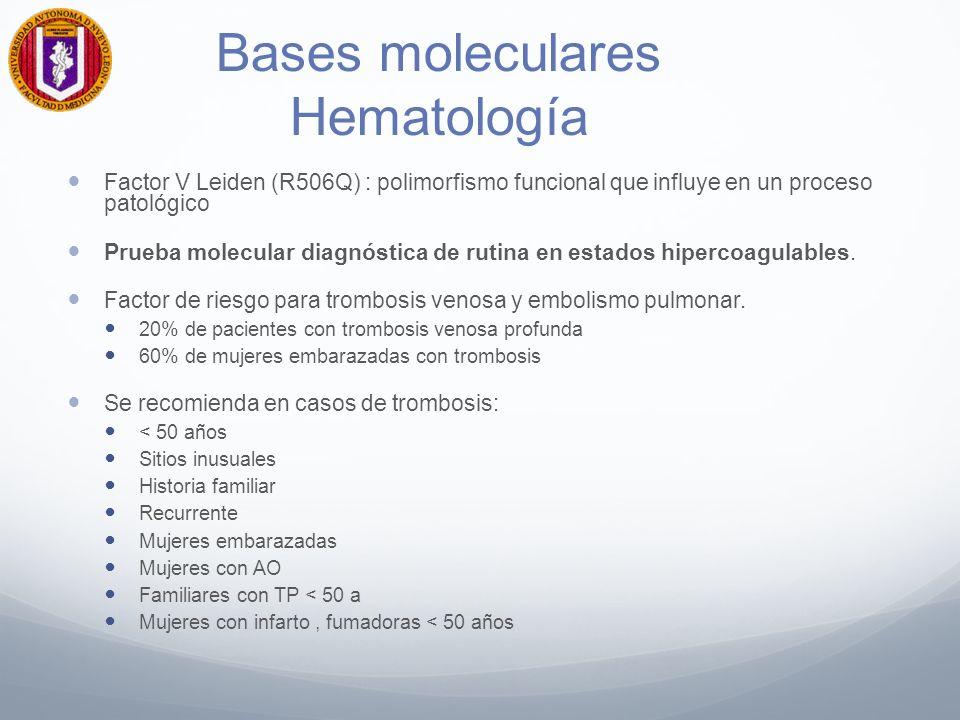 Bases moleculares Hematología