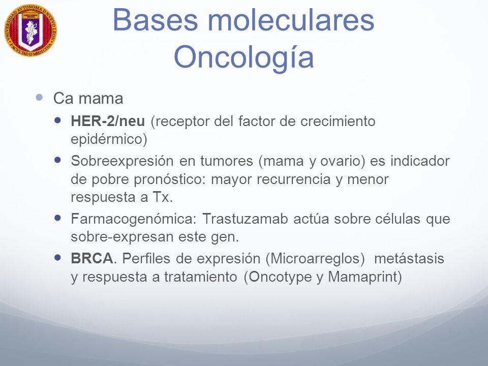 Bases moleculares Oncología