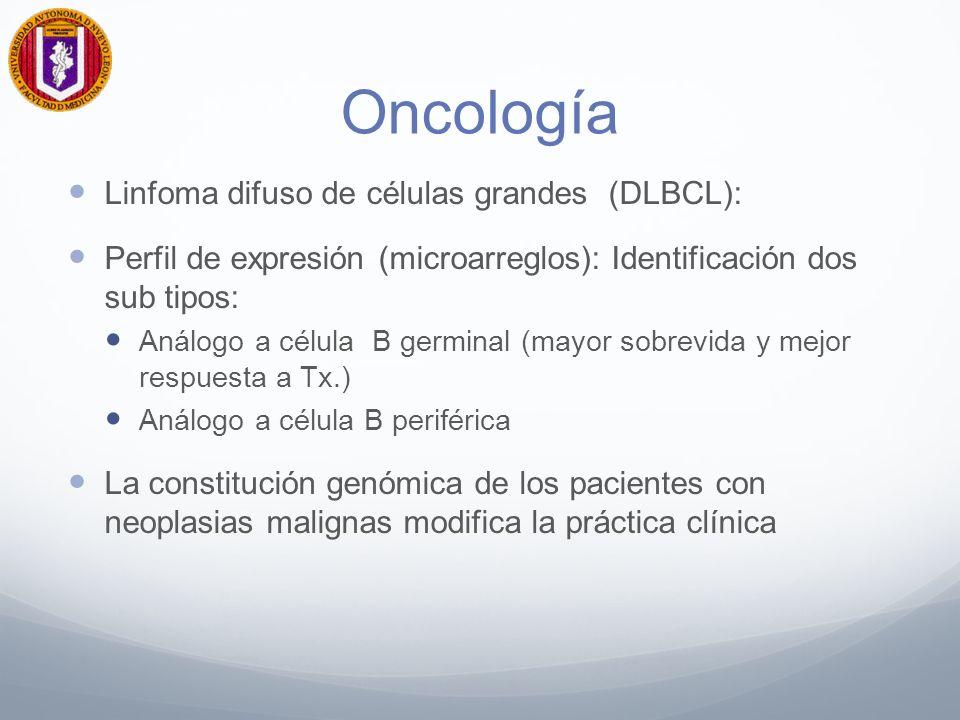 Oncología Linfoma difuso de células grandes (DLBCL):