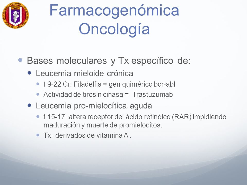 Farmacogenómica Oncología
