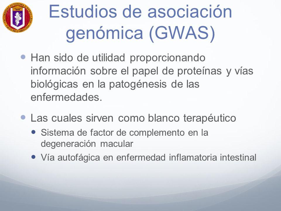 Estudios de asociación genómica (GWAS)