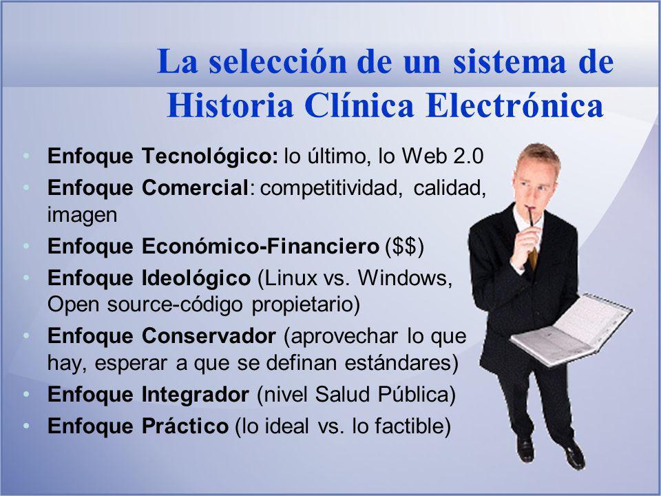 La selección de un sistema de Historia Clínica Electrónica