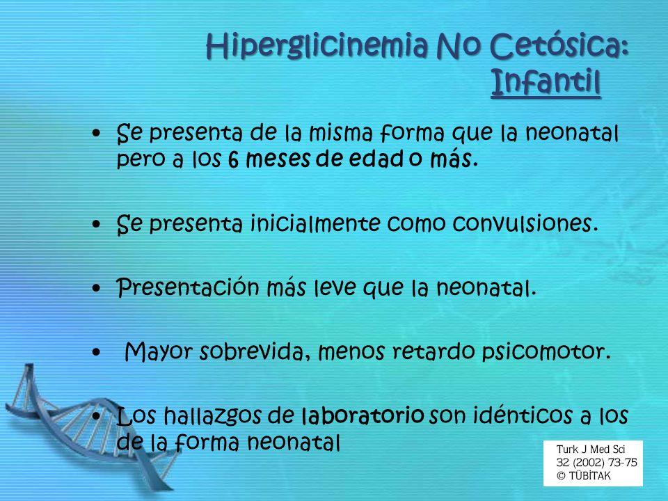 Hiperglicinemia No Cetósica: Infantil