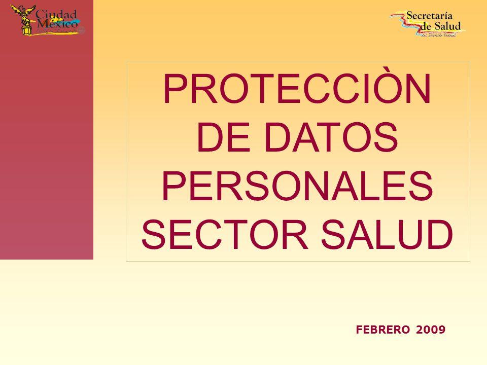 PROTECCIÒN DE DATOS PERSONALES SECTOR SALUD