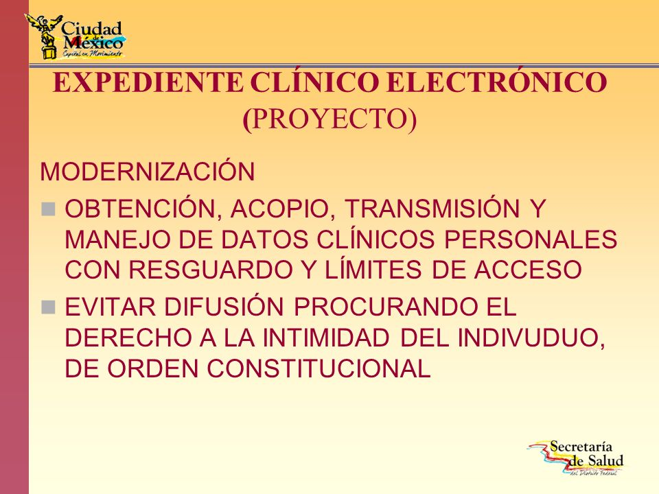 EXPEDIENTE CLÍNICO ELECTRÓNICO (PROYECTO)