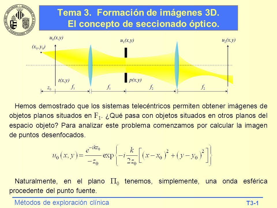 Tema 3. Formación de imágenes 3D. El concepto de seccionado óptico.