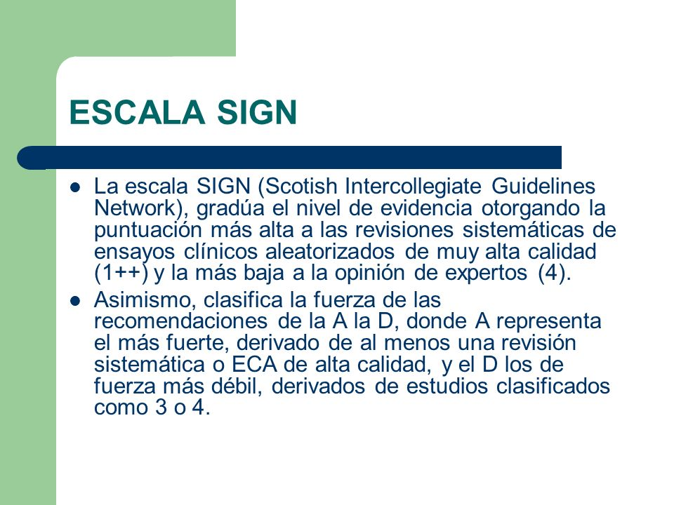 ESCALA SIGN