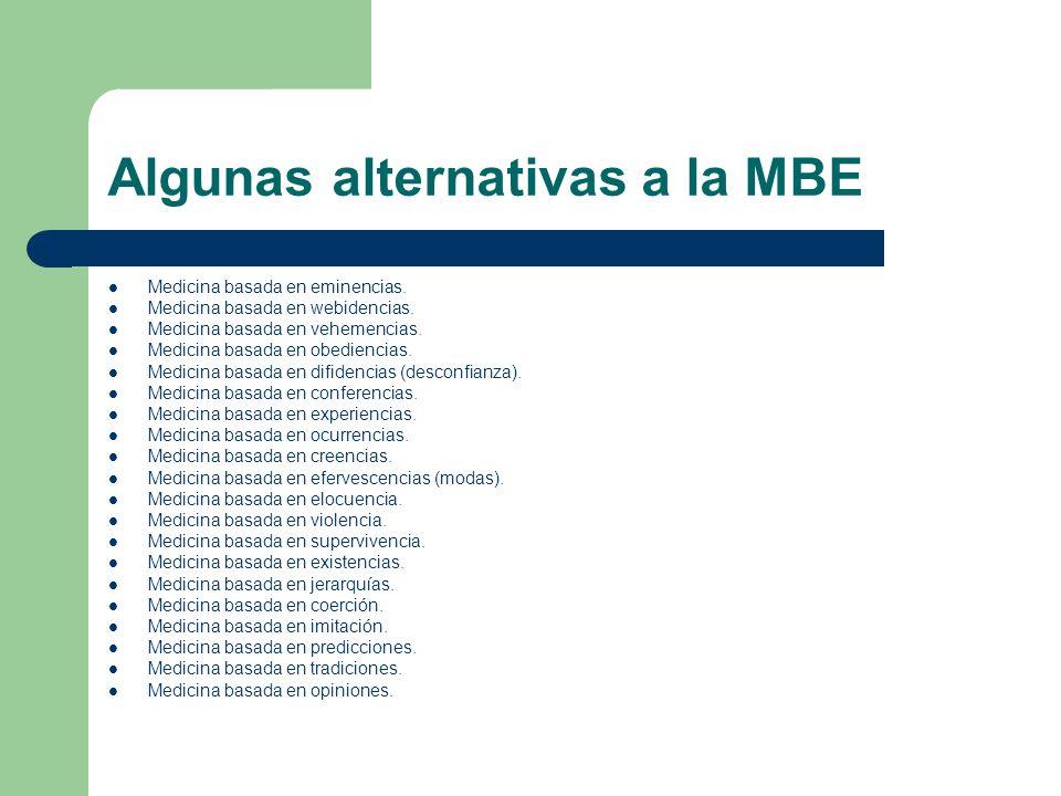 Algunas alternativas a la MBE