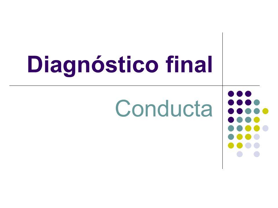 Diagnóstico final Conducta