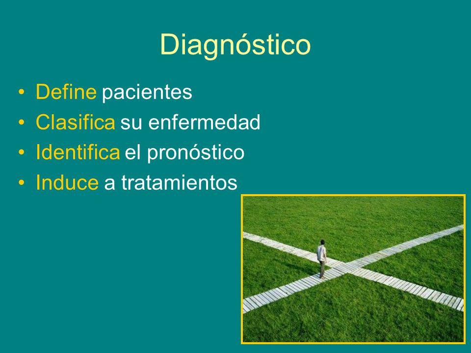 Diagnóstico Define pacientes Clasifica su enfermedad