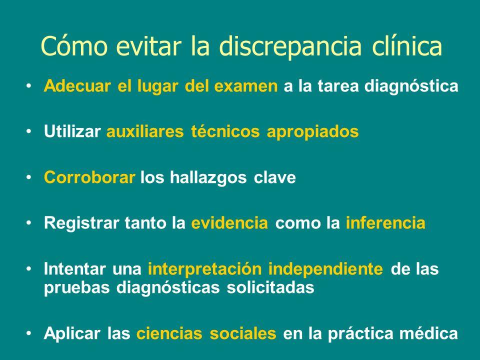 Cómo evitar la discrepancia clínica