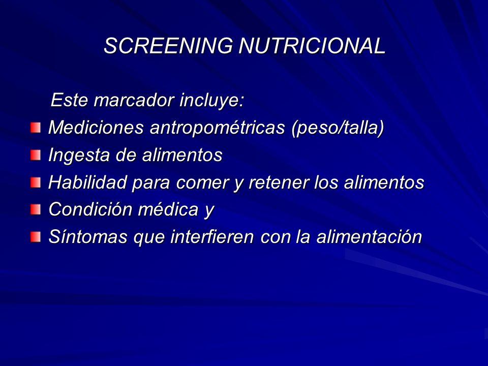 SCREENING NUTRICIONAL