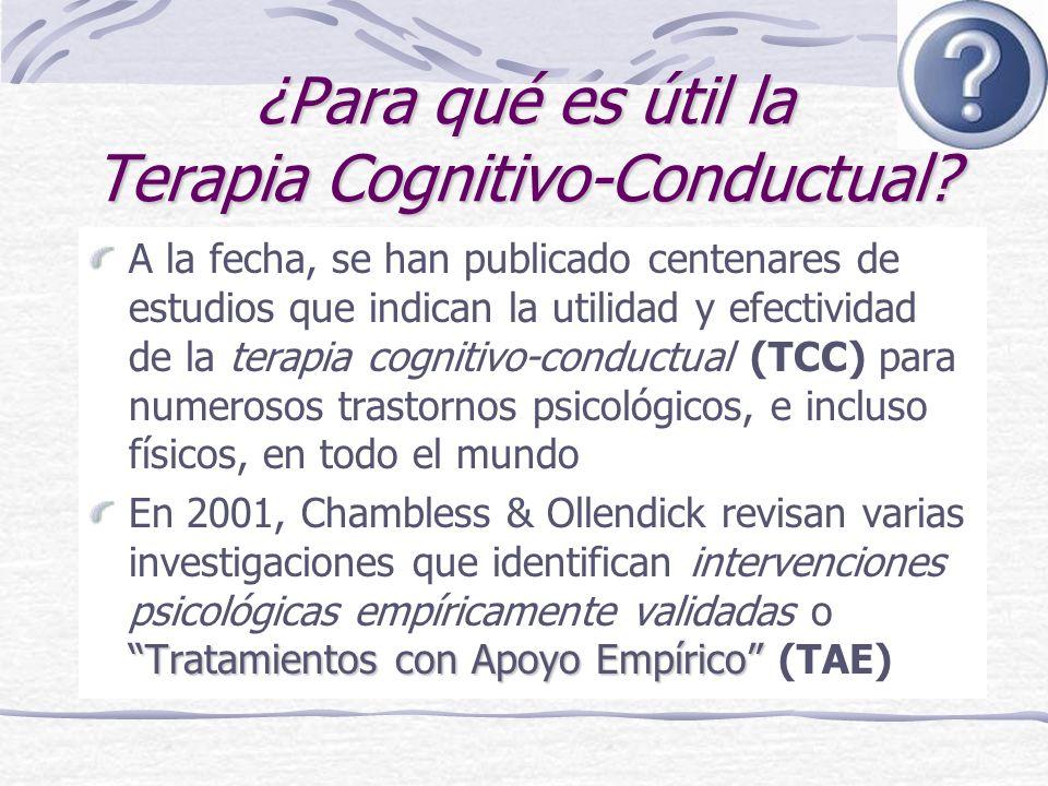 ¿Para qué es útil la Terapia Cognitivo-Conductual