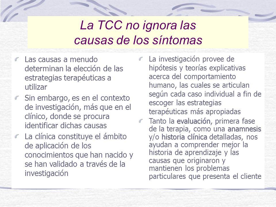 La TCC no ignora las causas de los síntomas