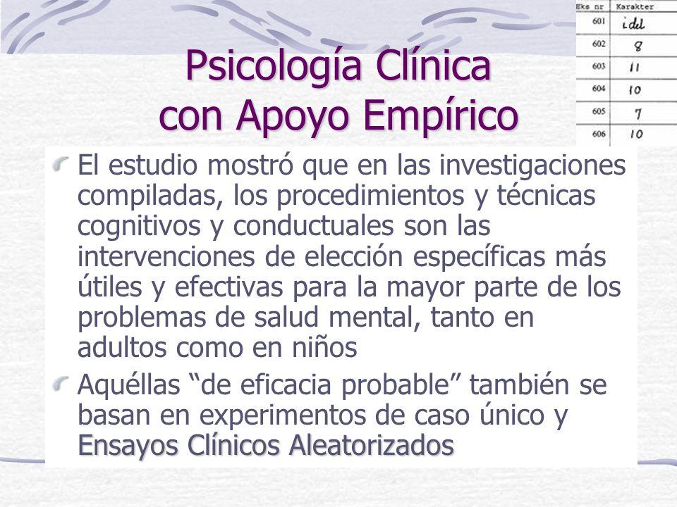 Psicología Clínica con Apoyo Empírico
