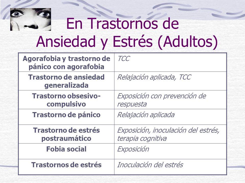 En Trastornos de Ansiedad y Estrés (Adultos)