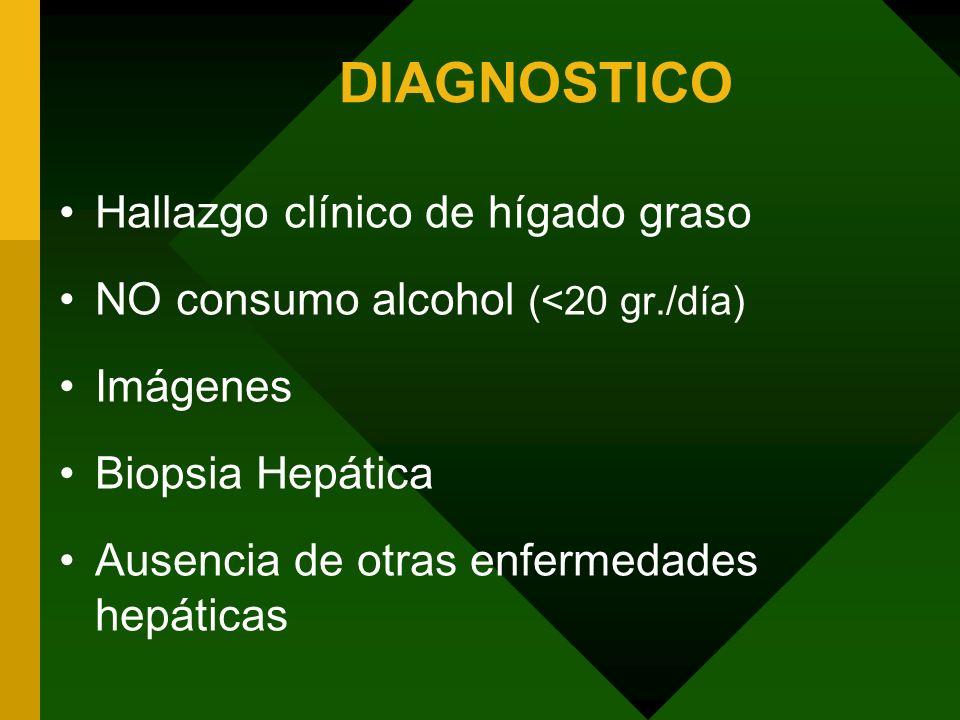 DIAGNOSTICO Hallazgo clínico de hígado graso