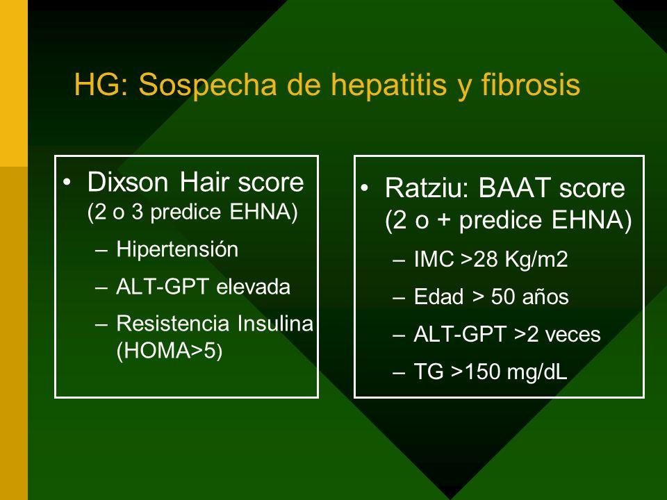 HG: Sospecha de hepatitis y fibrosis