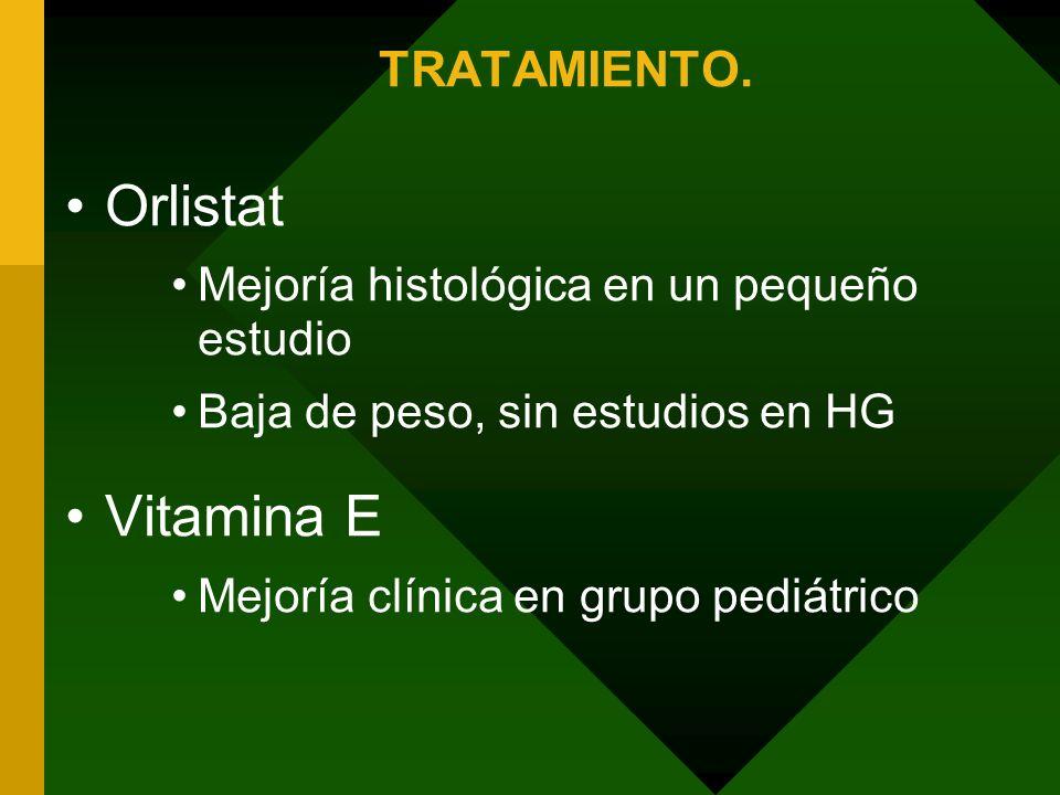 Orlistat Vitamina E TRATAMIENTO.