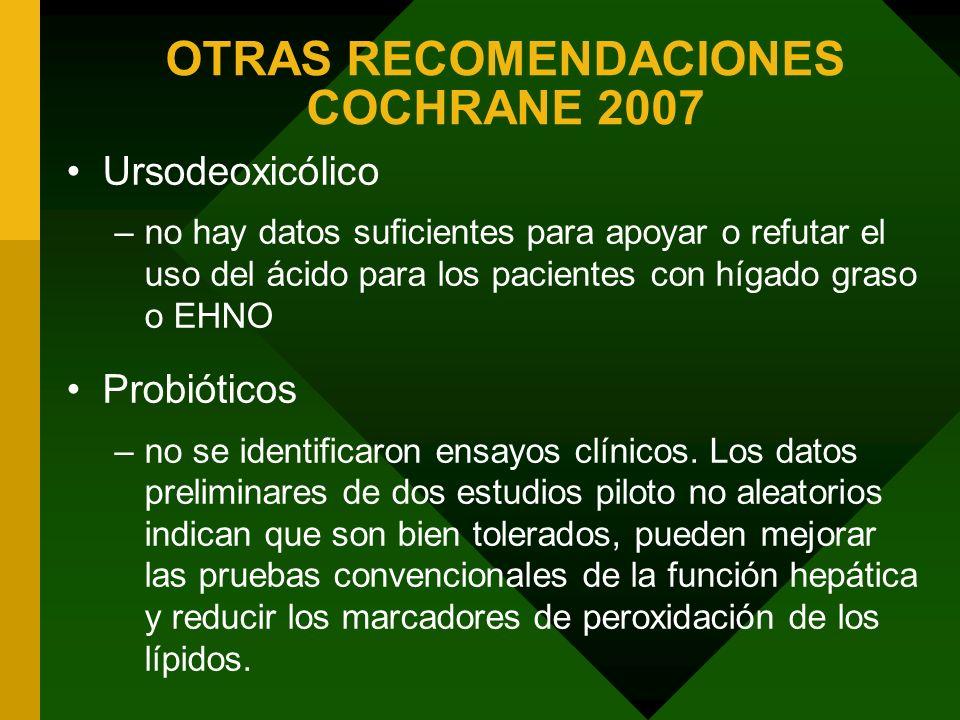 OTRAS RECOMENDACIONES COCHRANE 2007