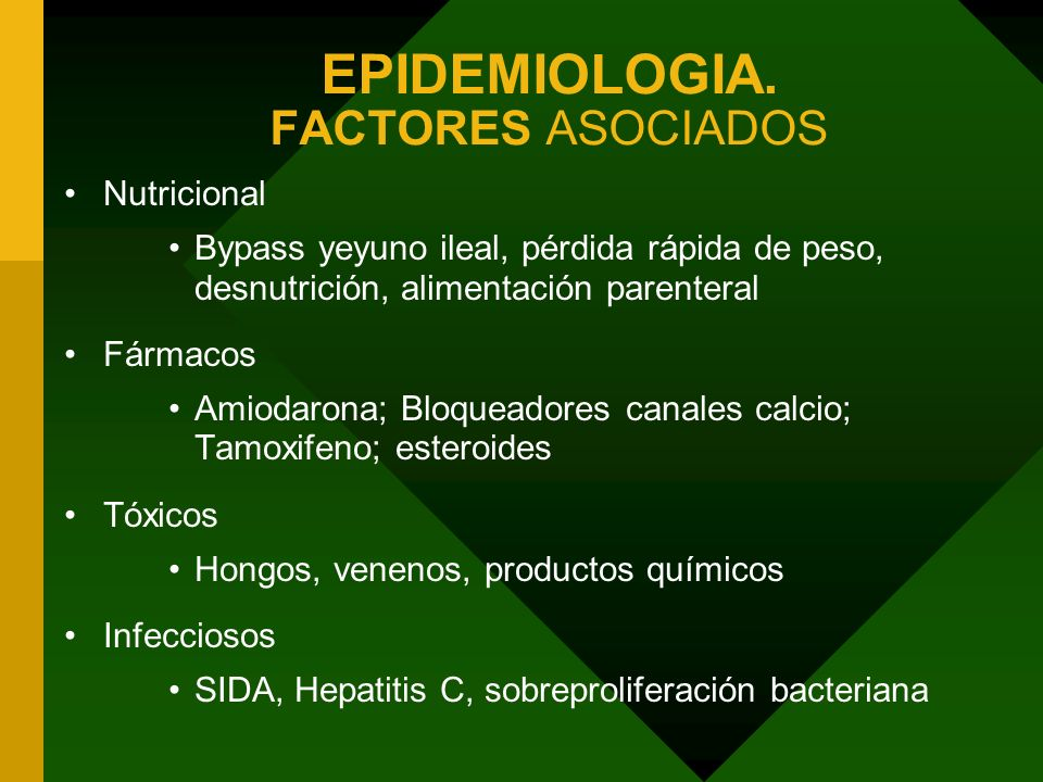 EPIDEMIOLOGIA. FACTORES ASOCIADOS