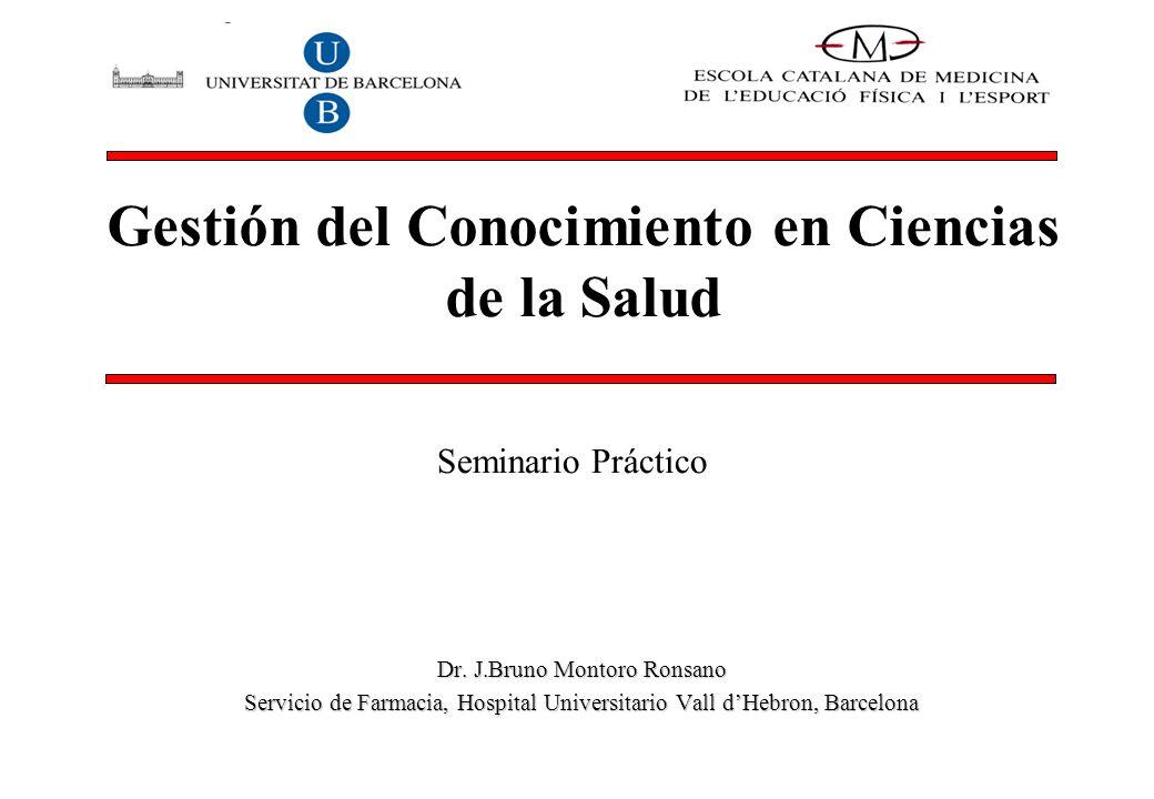 Gestión del Conocimiento en Ciencias de la Salud