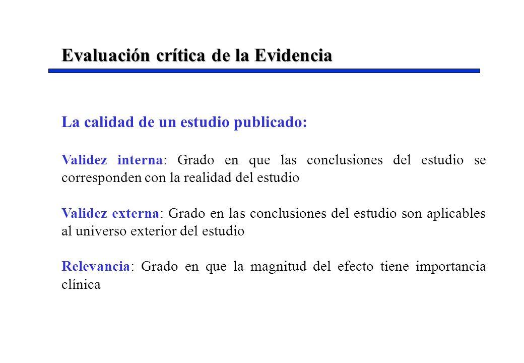 Evaluación crítica de la Evidencia
