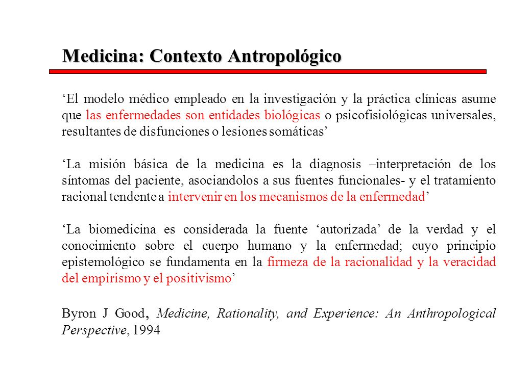 Medicina: Contexto Antropológico