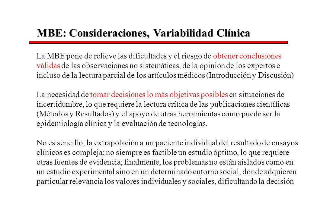 MBE: Consideraciones, Variabilidad Clínica