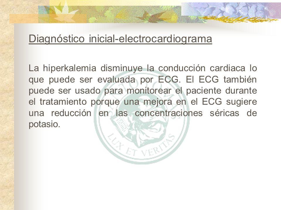 Diagnóstico inicial-electrocardiograma