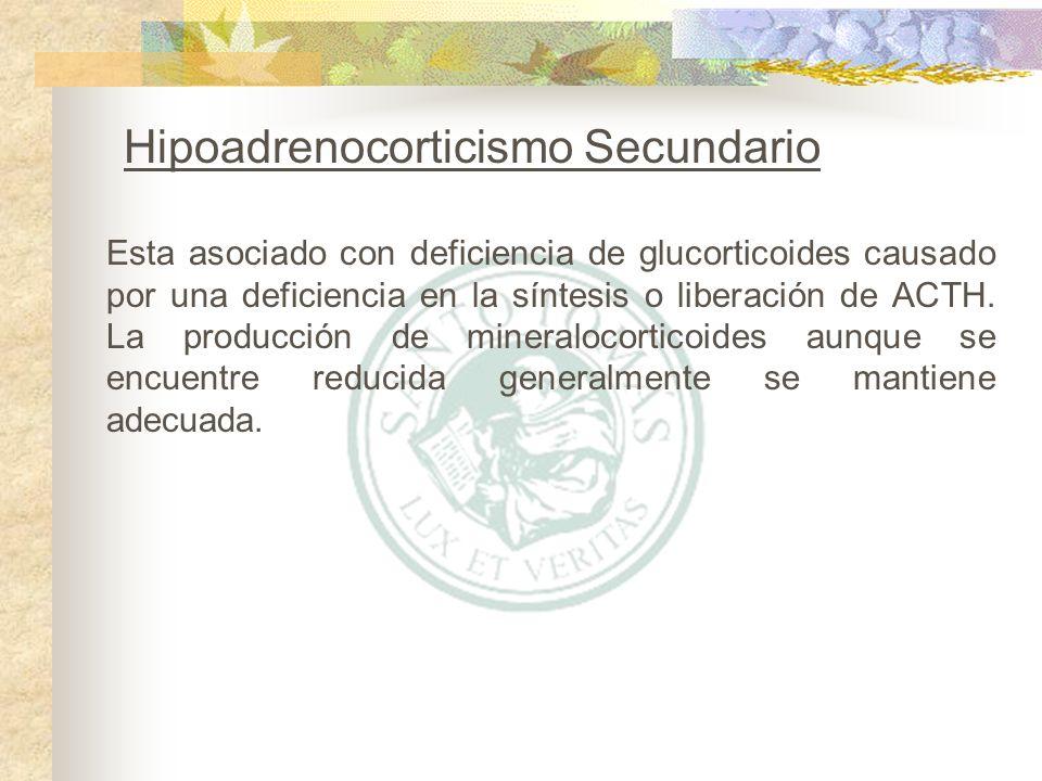 Hipoadrenocorticismo Secundario