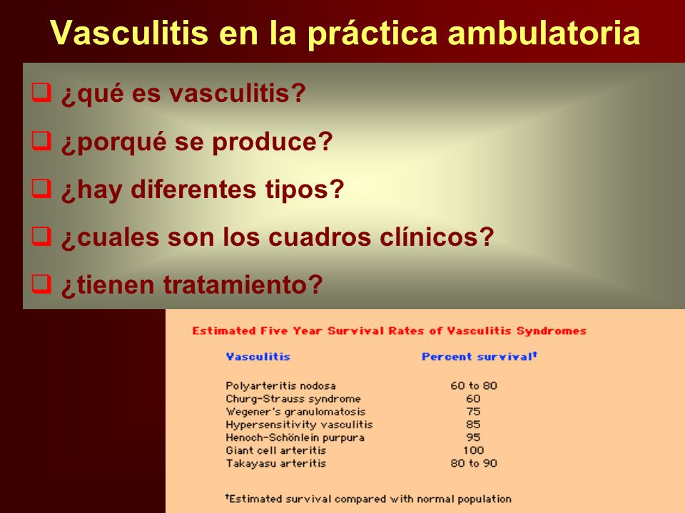 Vasculitis en la práctica ambulatoria