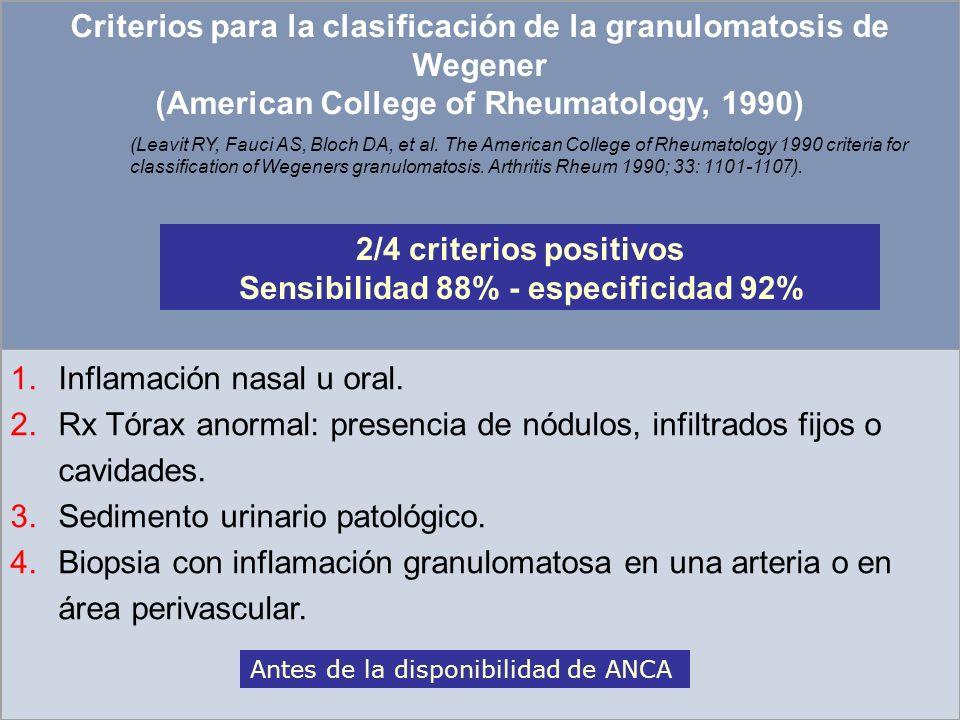 Sensibilidad 88% - especificidad 92%