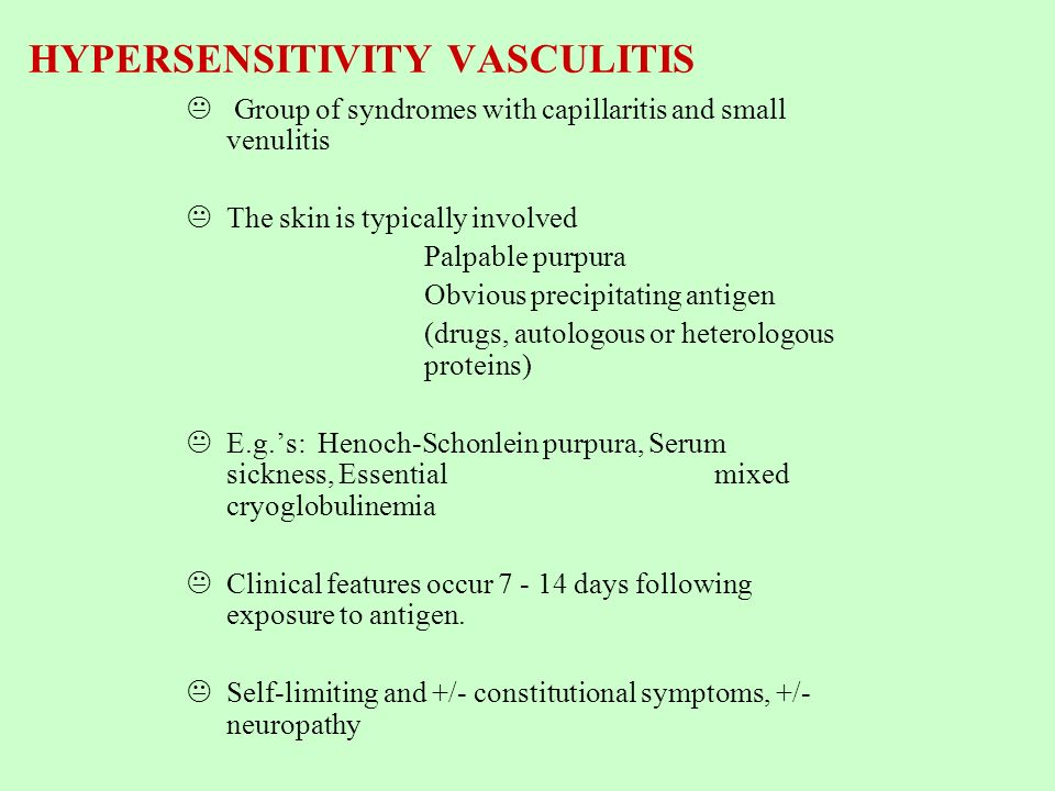 HYPERSENSITIVITY VASCULITIS