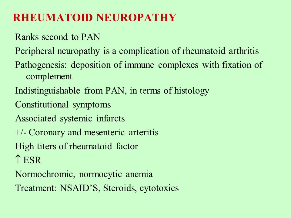 RHEUMATOID NEUROPATHY