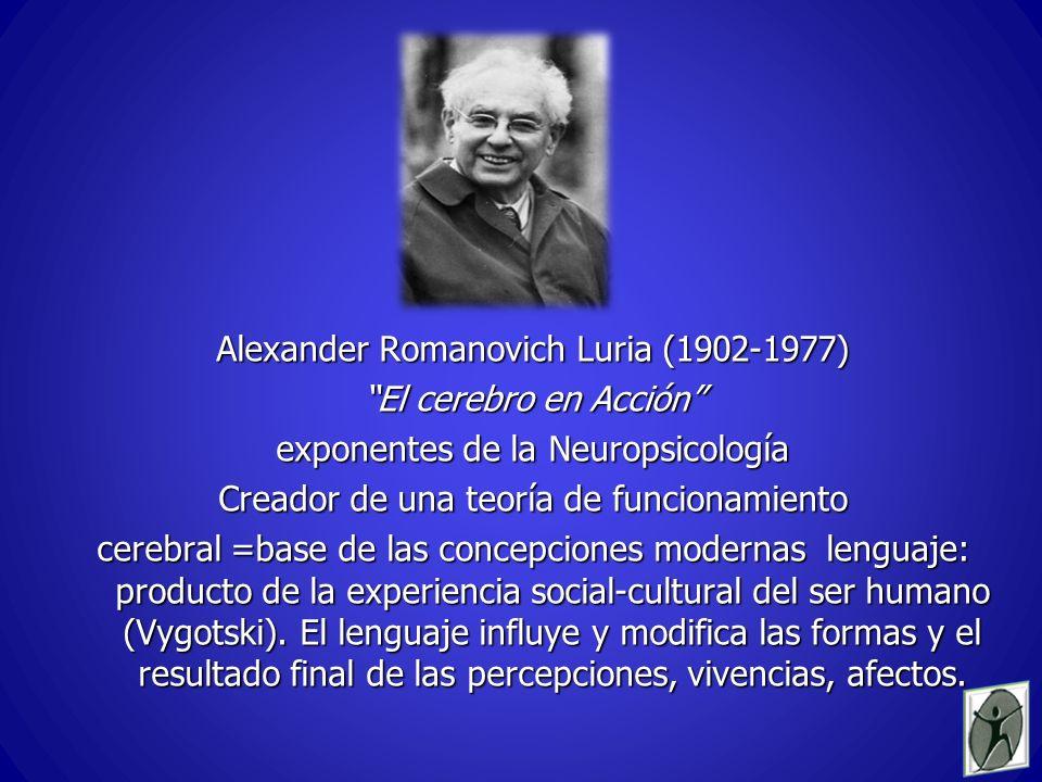 Alexander Romanovich Luria (1902-1977) El cerebro en Acción