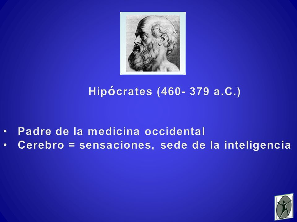Hipócrates (460- 379 a.C.) Padre de la medicina occidental.