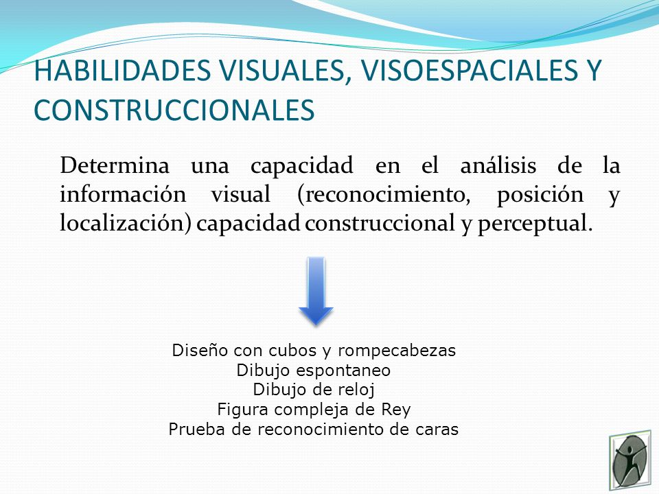 HABILIDADES VISUALES, VISOESPACIALES Y CONSTRUCCIONALES