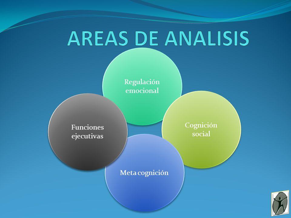 AREAS DE ANALISIS Regulación emocional Cognición Funciones social