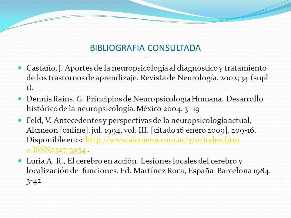 BIBLIOGRAFIA CONSULTADA ,