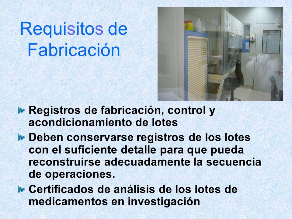 Requisitos de Fabricación