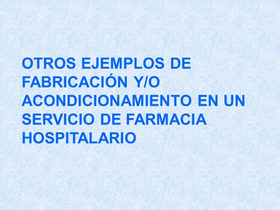 OTROS EJEMPLOS DE FABRICACIÓN Y/O