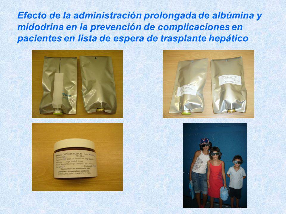 Efecto de la administración prolongada de albúmina y midodrina en la prevención de complicaciones en pacientes en lista de espera de trasplante hepático